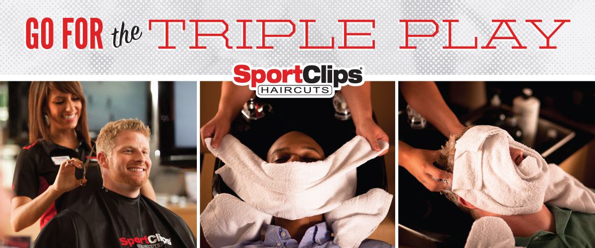 The Sport Clips Haircuts of Kingwood Northpark  Triple Play